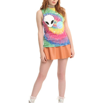 Alien Stars Tie Dye Girls Muscle Top