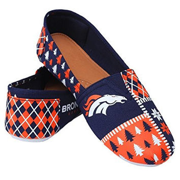Denver Broncos Forever Collectibles Women's Canvas Slip On Shoes Sizes S-XL