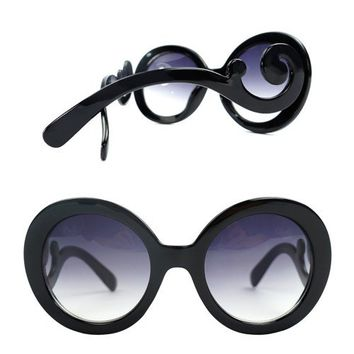 Black Baroque Frame Sunglasses