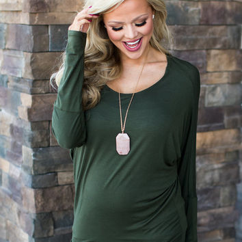 (Black Friday) Soft and Perfect Dolman Top Olive