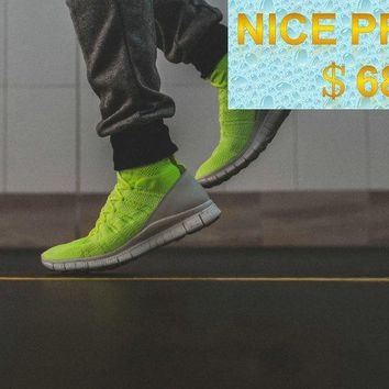 New Arrival 2018 Nike Free Flyknit Mercurial Superfly SP Volt Flash Lime Green White shoes