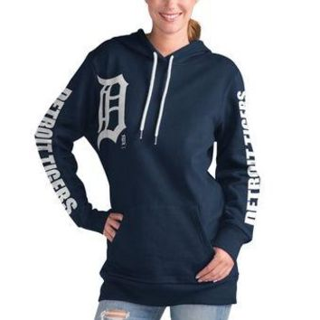 MLB Detroit Tigers Navy 12th Inning Pullover Hoodie