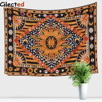 Cilected Sun God Hanging Wall Tapestry Polyester Home Decoration Tapestries Printed Wall Clothes Bed Cover Beach Cover 145x200cm
