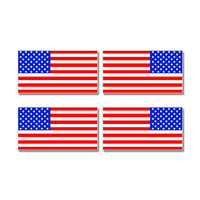 United States American Country Flag Mirror Images Sheet of 4 Stickers