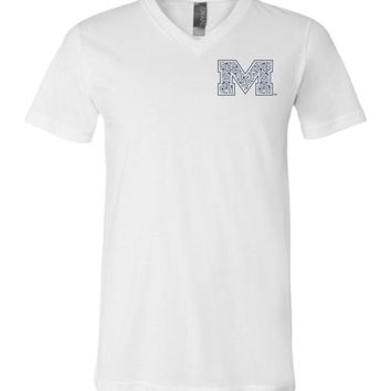 Official NCAA University of Mississippi Rebels Ole Miss Hotty Toddy Unisex V-Neck T-Shirt - 67LOLM