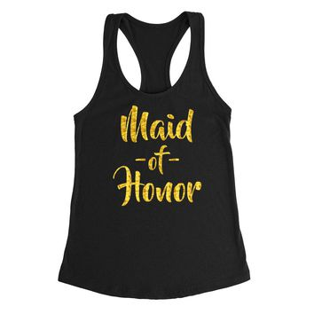 Maid of honor tank top, mom of the bride, bachelorette Tank Top