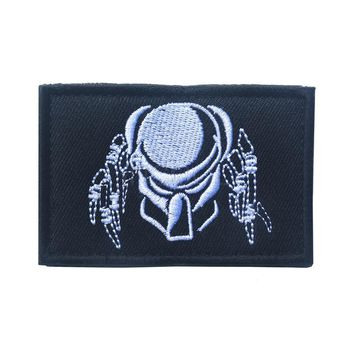 Embroidered Patch Predator Queen Mask Morale Patch Tactical Emblem Badges Embroidery Patches For Jackets Jeans Backpack Cap