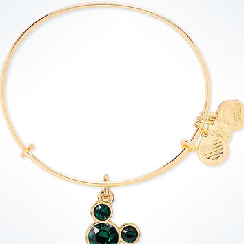 Disney Mickey Mouse Birthstone Bangle by Alex and Ani May Gold Finish New