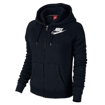 Nike Fashion Women Winter Zip Up Hoodie Jacket Sweater2