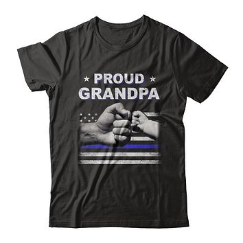 Proud Grandpa Police Thin Blue Line Flag Fathers Day