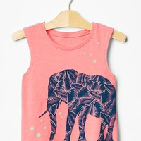 Embroidered Graphic Tank
