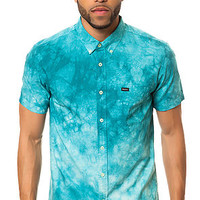 The That'll Do Tye Dye SS Buttondown in Colonial Blue