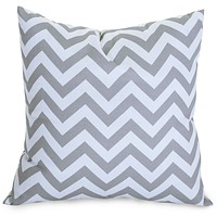 Gray Chevron Large Pillow