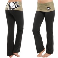 Women's Pittsburgh Penguins Black Sublime Knit Lounge Pants