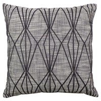 Threshold™ Faceted Embroidered Pillow Gray 18""