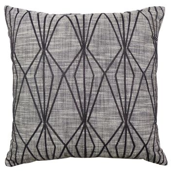 """Threshold™ Faceted Embroidered Pillow Gray 18"""""""