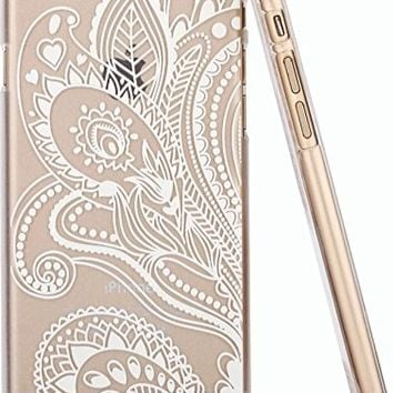 iPhone 6 Plus Case,iPhone 6S Plus Case Hundromi Iphone 6 6S Plus Plastic Henna Ojibwe Dream Catcher Ethnic Tribal Case Cover For iPhone 6 plus/iphone 6S plus