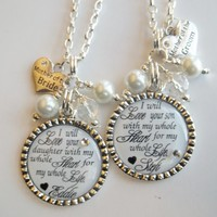 Mother of the Bride and Groom personalized gift set choose quote color   SignatureBling - Wedding on ArtFire
