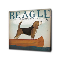 Epic Art 101695C Beagle Canoe Co by Ryan Fowler: 18 x 18 Giclee Canvas