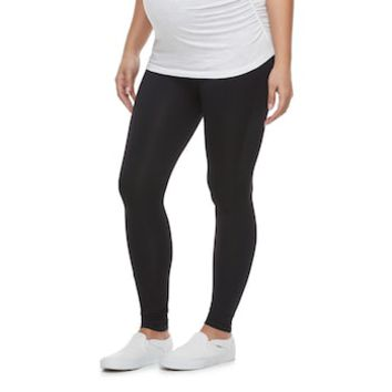Maternity a:glow Belly Panel Black Leggings