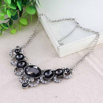 Fashion Statement Crystal Bib Necklace