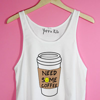 Need Some Coffee Crop Tank Top | Yotta Kilo