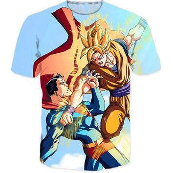 Dragon Ball Z Japanese 3D Short Sleeve Anime T-Shirt V23