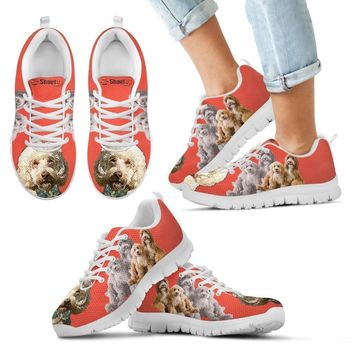Cute Labradoodle Print Running Shoes For Kids- Free Shipping