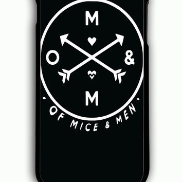 iPhone 6 Plus Case - Hard (PC) Cover with OF MICE AND MEN BAND LOGO Plastic Case Design