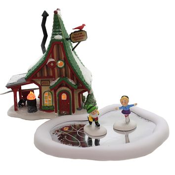 Department 56 House HOLIDAY SKATING PARTY NP Porcelain North Pole 6004810