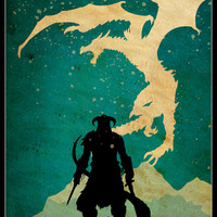 SKYRIM - Minimalist Video Game Poster