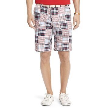 IZOD Madras-Plaid Shorts - Men, Size: