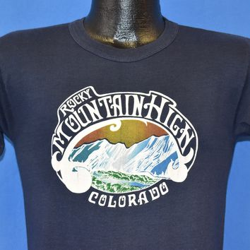 80s Rocky Mountain High Colorado Sunset t-shirt Small