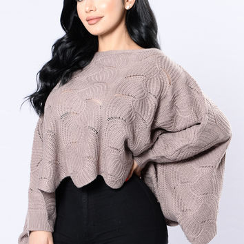 Feel  The Warmth Sweater - Mauve