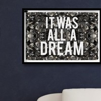 All A Dream Framed Art with Glitter Detail