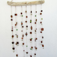 Driftwood Mobile Home Decoration,Glass Beaded Suncatcher Hanging Decor Ecofriendly