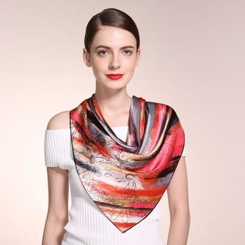 100% Pure Luxury Silk Square Scarves