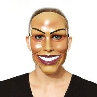 Economy Smiling Woman Mask The Purge