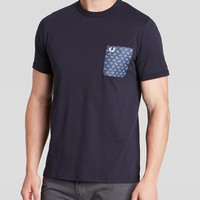 Fred Perry Drakes Paisley Trim Pocket Tee