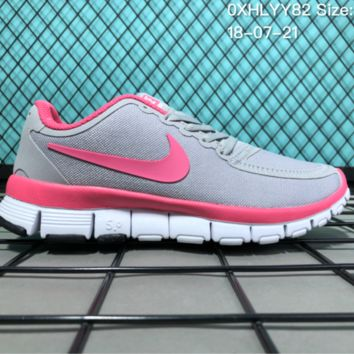 HCXX N080 Nike Air Zoom Free RN 5.0 Breathable Causal Running Shoes Grey Pink
