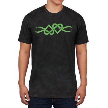 DCCKU3R Irish Celtic Infinite Love Knot Mens Soft T Shirt