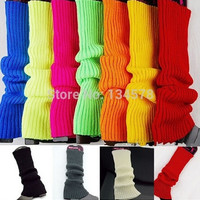 10 Colors Autumn Winter Leg Warmers For Women Coarse Wool Knitted Warmers Gaiters Casual Solid Boot Socks = 1946762756