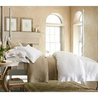 Soprano Sheeting Duvet and Shams by Peacock Alley
