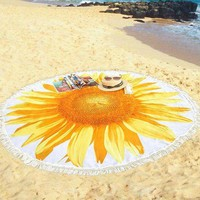 DCCKL6D Gasoo Max Brand 2017 Pineapple Fruit Beach Covers-Up Beach Mat Swimsuit Cover Up Round Bikini Cover Up Bikini cover with Tassels