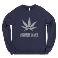 Cannabis Chills-Unisex Navy Sweatshirt