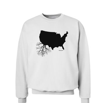 American Roots Design Sweatshirt by TooLoud