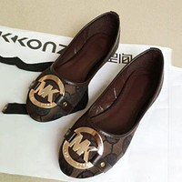 MK Michael Kors Slip-On Women Fashion Leather Flats Shoes