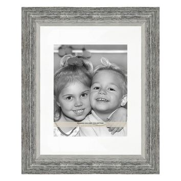 Belle Maison Distressed 8'' x 10'' Matted Frame