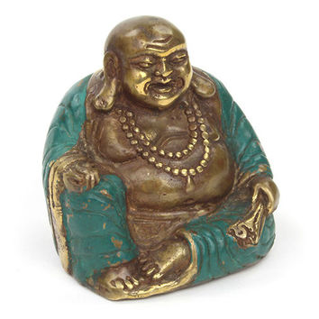 Weighty Bronze Finely Detailed  Laughing  Buddha