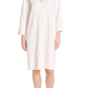 Designs Zip Front Waffle Knit Robe